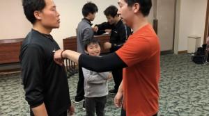 【2/2(土)システマ南埼玉の練習風景⑦】 クラスの最後は、プッシュスパーをもう一度やってみました。