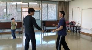 【4/13(土)システマ南埼玉の練習風景⑦】 大トリは、自分とT師匠の対戦。