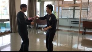【4/6(土)システマ南埼玉の練習風景⑤】 クラス最後のフリーワークとして、ストライクのスパーを行いました。まずは、自分とK君との対戦。