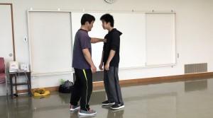 【4/27(土)システマ南埼玉の練習風景④】 相手とのコネクト感やフォーム主導のプッシュを活用したプッシュスパー。今回のクラスで練習した要素の実戦的な検証として行いました。