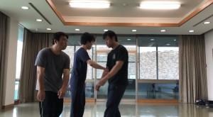 【7/20(土)システマ南埼玉の練習風景①】 前回に続き今回のクラスでも、対複数のストライクのワークを行いました。