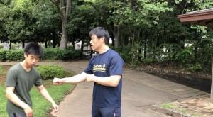 物理的な拳の移動距離より、意識を広げて動かすことにより、相手に大きな影響を与えます。