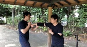 【9/7(土)システマ南埼玉の練習風景④】 続いて、Kさんと自分の対戦。