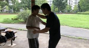 生きのいい若手とスパーで対戦するのは楽しいものですね。